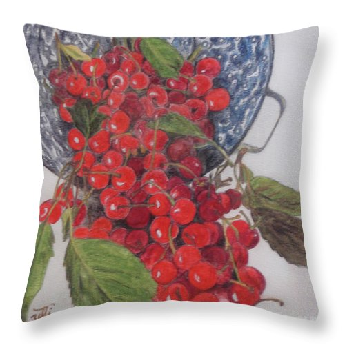 Still Life Throw Pillow featuring the painting Life Is... by Suzette Kallen