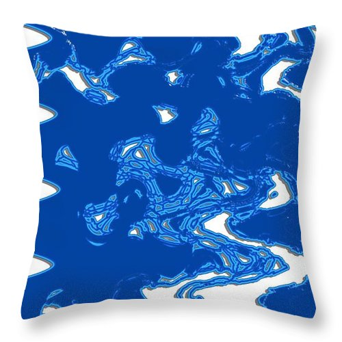 Abstract Throw Pillow featuring the digital art Life Of A Kleenex by John Saunders