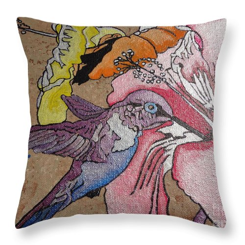 Google Throw Pillow featuring the painting Life Through My Eyes by Ems Colon