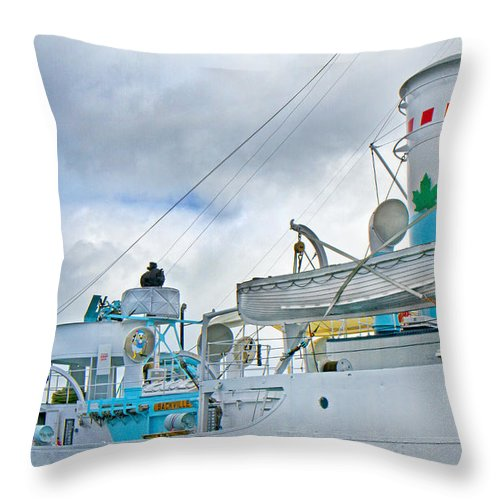 Boat Throw Pillow featuring the photograph Lifesavers by Betsy Knapp