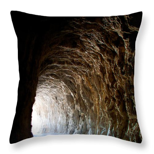 Light Throw Pillow featuring the photograph Light At The End Of The Tunnel by Weston Westmoreland