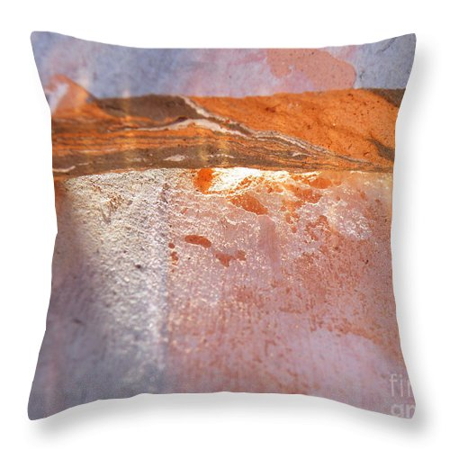 Abstract Throw Pillow featuring the photograph Light From Within by Brian Boyle