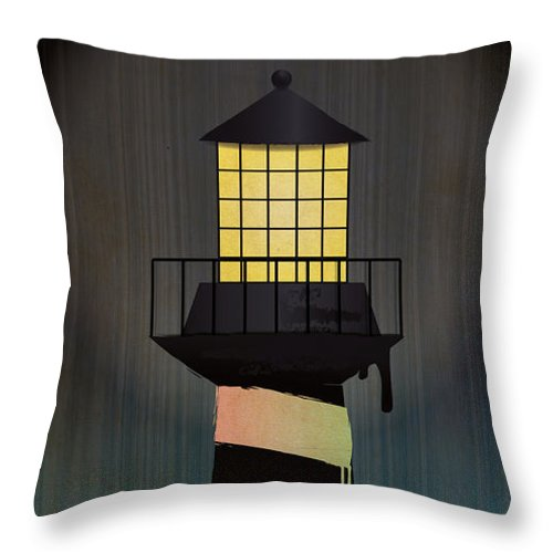 Lighthouse Throw Pillow featuring the digital art Light House by Tim Ford