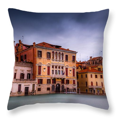 Sunrise Throw Pillow featuring the photograph Light In Venice by Jakob Noc