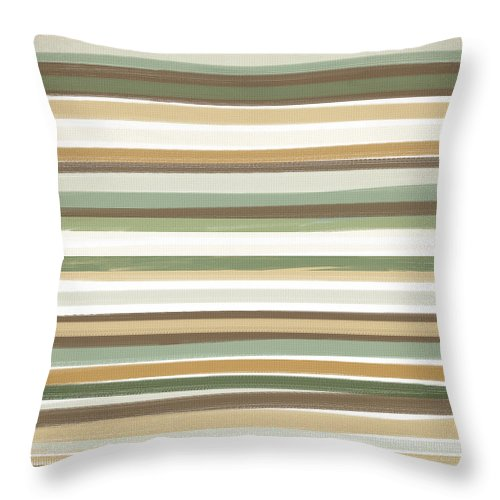White And Tan Throw Pillow featuring the painting Light Mocha by Lourry Legarde