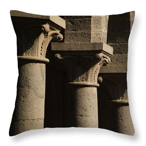 Background Throw Pillow featuring the photograph Light N Shadow by Kiran Joshi