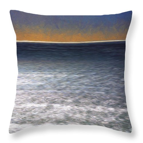 Ocean Throw Pillow featuring the photograph Light On Water by Sheila Smart Fine Art Photography
