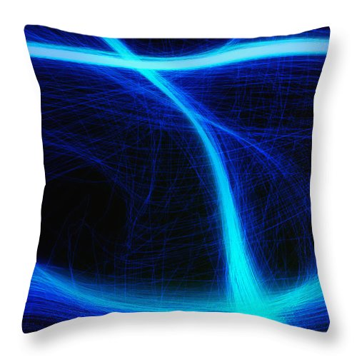 Throw Pillow featuring the photograph Light Show Abstract 5 by Joseph Hedaya
