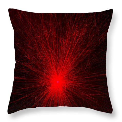 Throw Pillow featuring the photograph Light Show Abstract 6 by Joseph Hedaya