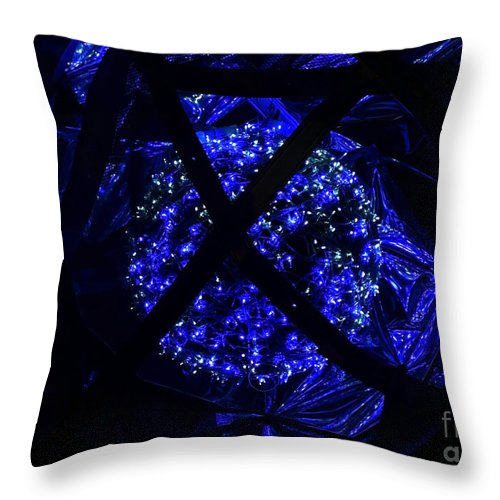 Europe Throw Pillow featuring the photograph light show in Kronach 3 by Rudi Prott