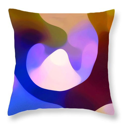 Throw Pillow featuring the painting Light Through Branch by Amy Vangsgard
