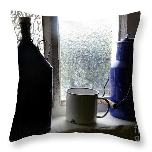 Window Throw Pillow featuring the photograph Light Through The Window by Carol Groenen