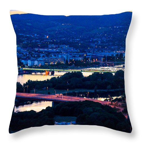 Lanscape Throw Pillow featuring the photograph Light Time On Donau by Fred West
