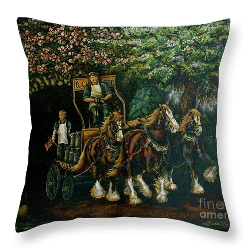 Throw Pillow featuring the painting Light Touch by Linda Simon