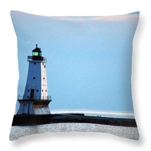 Ludington Throw Pillow featuring the photograph Light Up Close by Linda Kerkau