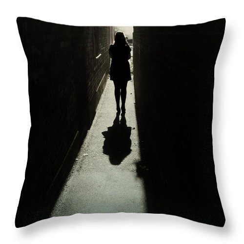 Woman Throw Pillow featuring the photograph Light by Cambion Art