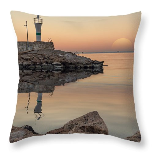 Architecture Throw Pillow featuring the photograph Lighthouse by Bahadir Yeniceri