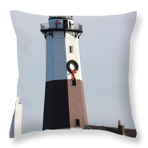 Throw Pillow featuring the photograph Lighthouse by Cathy Cale