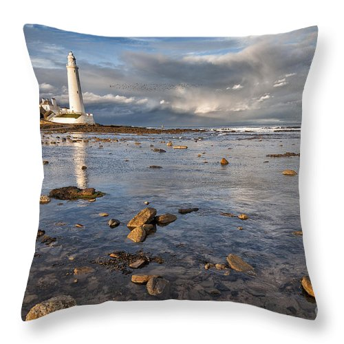 Newcastle Throw Pillow featuring the photograph Lighthouse by Julian Eales