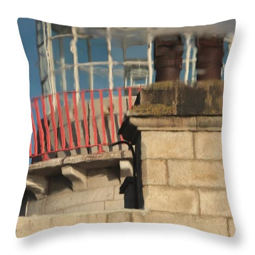 Howth Lighthouse Throw Pillow featuring the photograph Lighthouse Reflection by Robert Phelan