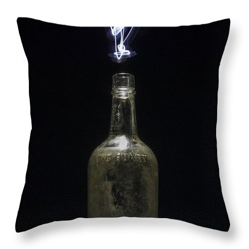 Abstracts Throw Pillow featuring the photograph Lighting By The Quart - Light Painting by Steven Milner