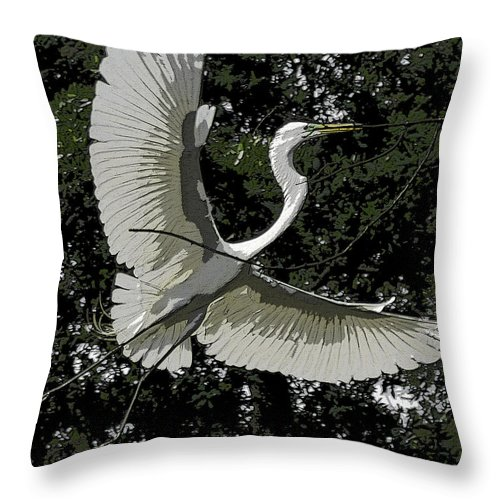 Heron Throw Pillow featuring the photograph Lightness Of Being by James Ekstrom