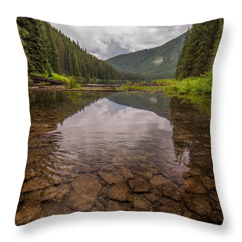 Beautiful Throw Pillow featuring the photograph Lightning Lake by James Wheeler