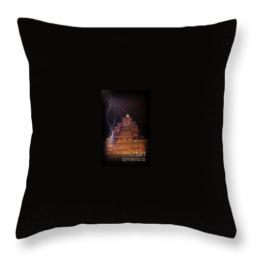 Weather Throw Pillow featuring the photograph Lightning Strike by Steven Baier