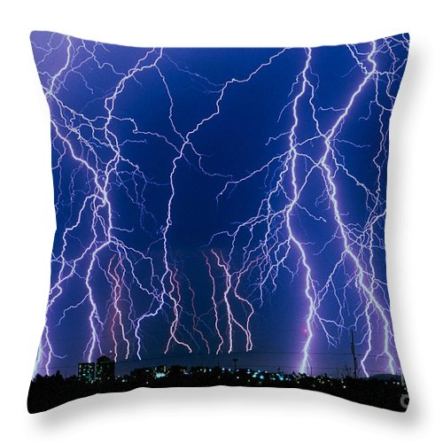 Lightning Strikes Throw Pillow For Sale By John A Ey Iii