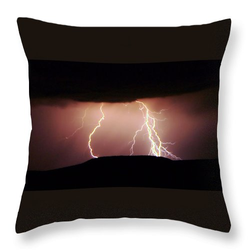 Lightning Throw Pillow featuring the photograph Lightning Walking by Jeff Swan