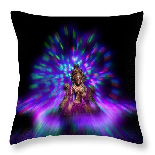 Tara Throw Pillow featuring the photograph Lightpainting Tara by Beverly Cash