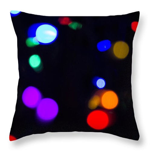 Sky Is The Limit Images Throw Pillow featuring the photograph Lights by Becca Buecher