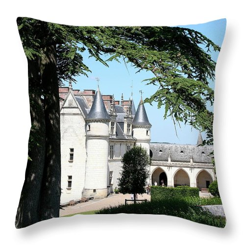 Castle Throw Pillow featuring the photograph Like A Fairytale - Chateau Amboise by Christiane Schulze Art And Photography