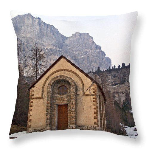 Churches Throw Pillow featuring the photograph Lil' Brown Church by Jennifer Robin