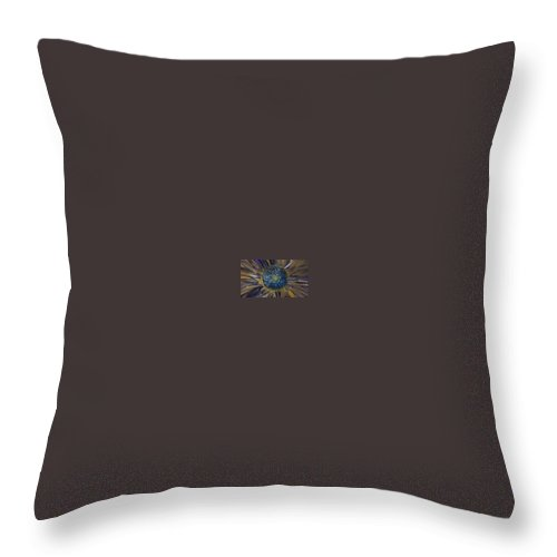 Flower Throw Pillow featuring the painting Lil Mysterious  by Soraya Silvestri