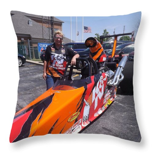 Lil Vixen Throw Pillow featuring the photograph Lil Vixen Kathy Fisher by Sara Raber