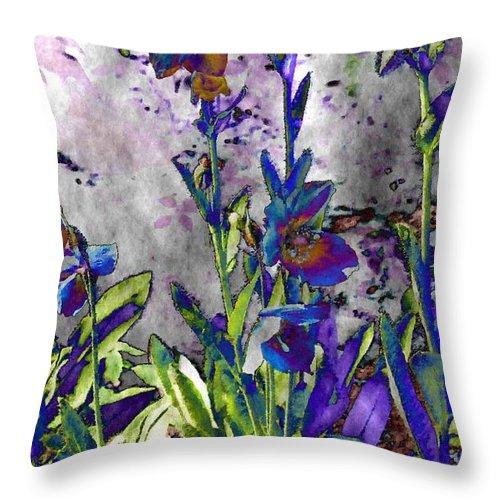 Flowers Throw Pillow featuring the digital art Lillies by Susanne Baumann