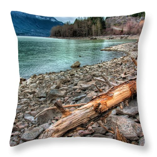 Beautiful Throw Pillow featuring the photograph Lillooet Lake by James Wheeler