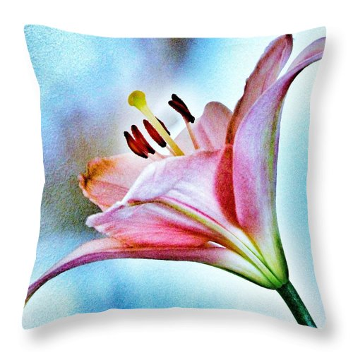 Lily Throw Pillow featuring the photograph Lily by Marianna Mills