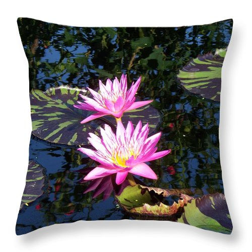 Lily Throw Pillow featuring the painting Lily Monet by Eric Schiabor
