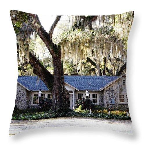 Chert Throw Pillow featuring the photograph Large Limerock House by D Hackett