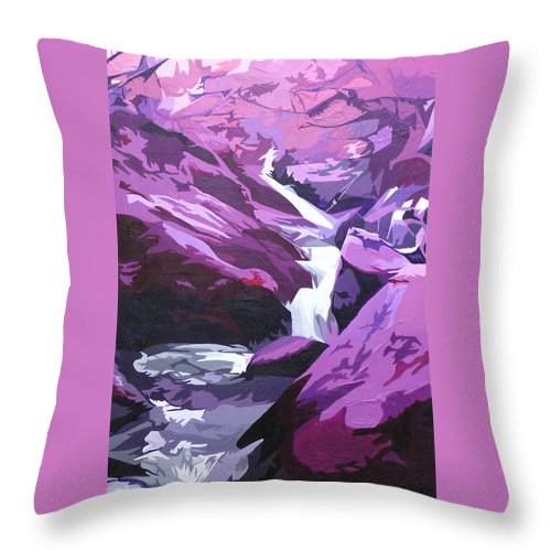 Creek Throw Pillow featuring the painting Limpy Creek by Joshua Morton