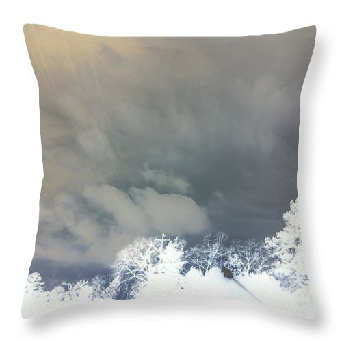 Photography Throw Pillow featuring the photograph Lines In The Sky by Max Mullins