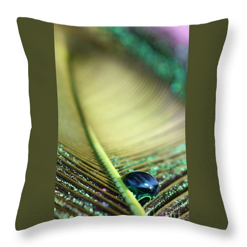 Feather Throw Pillow featuring the photograph Liquid Reflections by Krissy Katsimbras