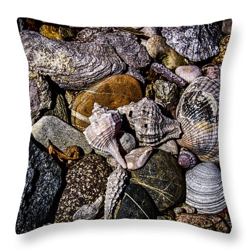 Hdr Throw Pillow featuring the photograph Listen To The Sea by Daria Elena