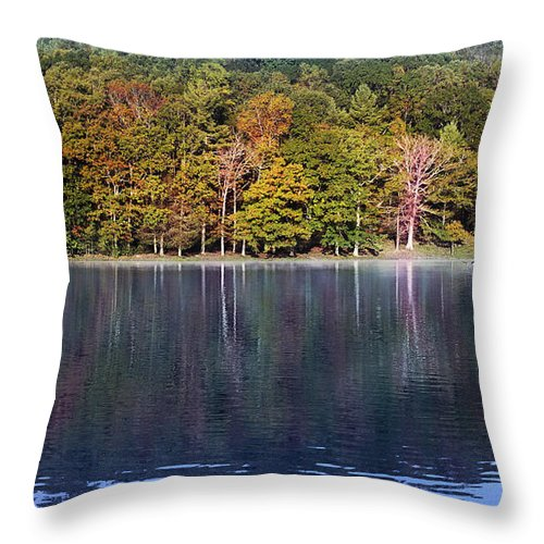 Lake Photograph Throw Pillow featuring the photograph Little Beaver Lake by Melissa Petrey