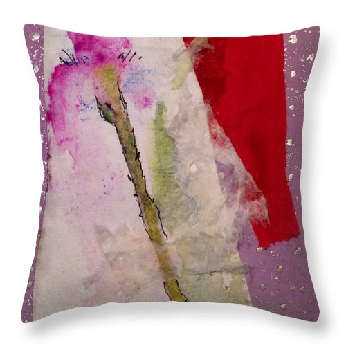 Iris Throw Pillow featuring the painting Little Beverly by Sherry Harradence