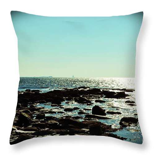 Rhode Island Throw Pillow featuring the photograph Little Compton Coast by Kevin Fortier