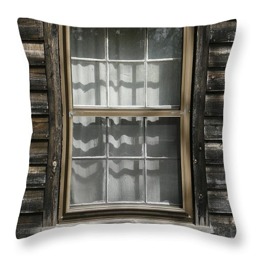 Window Throw Pillow featuring the photograph Little Cottage Window by Kristia Adams