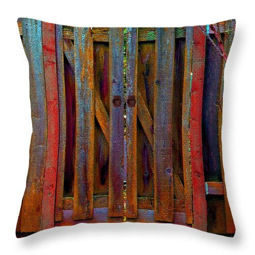 Gate Throw Pillow featuring the photograph Little Gate by Michele Avanti